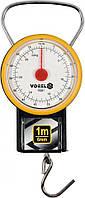 Весы ручные, подвесные, пружинные , до 32 кг, с рулеткой 1 м и циферблат. шкале- ±0,5 Vorel 15301