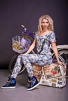 Женский модный комбинезон с цветочным принтом | Весна 2016, фото 1