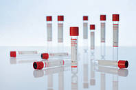 Вакуумна пробірка Lind-Vac без наповнювача, 9 мл, червона кришка, стерильна