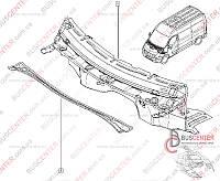 Планка под лобовое стекло Renault Master IV (2010-……) 8200740502