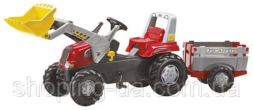 Трактор на педалях с прицепом и ковшом rollyJunior RT Rolly Toys 811397, фото 2