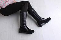 Зимние женские сапоги кожа - качественная женская обувь от украинского производителя