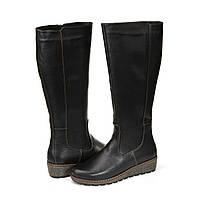 Женские Черные зимние Сапоги - качественная женская обувь от украинского производителя