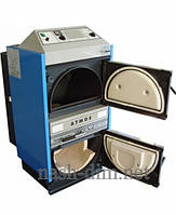 Котел пиролизный с газификацией древесины Atmos DC 100  с вытяжным вентилятором и охлаждающим теплообмеником