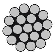DIN 3053 (ГОСТ 3063-80) нержавеющий трос 1х19