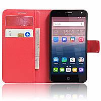 Чехол-книжка Litchie Wallet для Alcatel One Touch Pop 4 5051D (5.0) Красный