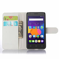 Чехол-книжка Litchie Wallet для Alcatel OneTouch 5015D POP 3 (5.0) Белый