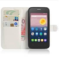 Чехол-книжка Litchie Wallet для Alcatel One Touch Pixi 4 5010D (5.0) Белый