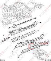 """Порог передний правый (фальш-борт """"без сдвижной двери"""") Peugeot Partner M49 (1996-2003) 7008 Z7 BLIC 6505-06-0550002P"""