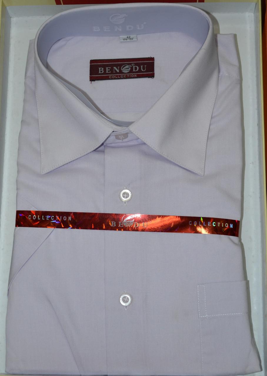 Мужская рубашка c коротким рукавом BENDU (размеры 38.39.40.41.43.45.46)