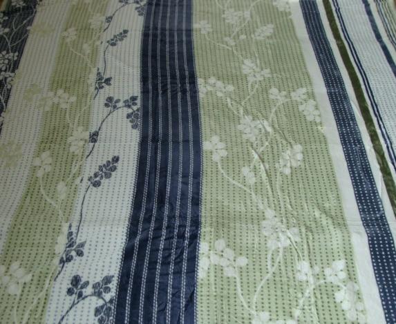 Микрофибровая простынь, покрывало Elway евро Вьюнок салатовая полоска