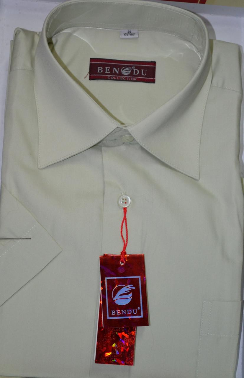 Мужская рубашка c коротким рукавом BENDU (размеры 38.40.42.44)