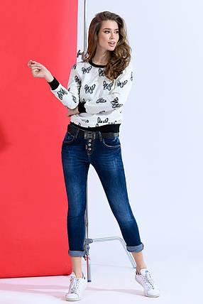Синие джинсы с потертостями, фото 2
