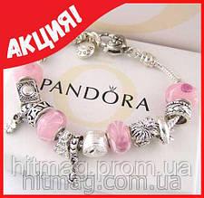 Браслет Pandora + серьги Dior