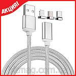 Магнитный micro-USB кабель для зарядки, любых телефонов, фото 8