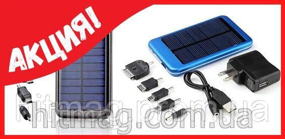 Внешний аккумулятор Power Bank на солнечных батареях 20 000 mAh