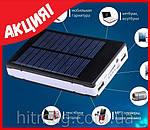 Внешний аккумулятор Power Bank на солнечных батареях 20 000 mAh, фото 3