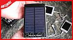 Внешний аккумулятор Power Bank на солнечных батареях 20 000 mAh, фото 6