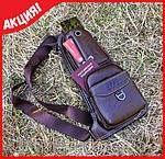 Кожаная мужская сумка jeep + часы curren в подарок, фото 5