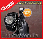 Jeep Buluo мужской рюкзак из натуральной кожи + часы Swiss army в подарок, фото 3