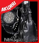 Jeep Buluo мужской рюкзак из натуральной кожи + часы Swiss army в подарок, фото 4