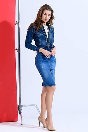 Классическая джинсовая юбка, фото 2