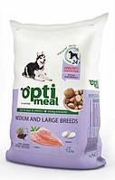 Optimeal Cухой корм для взрослых собак средних и больших пород - с курицей и рисом 12 кг