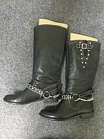 Черные сапоги Baldinini