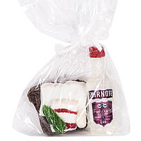 Набор мыла сувенирного ручной работы Водка с бутербродом 200г