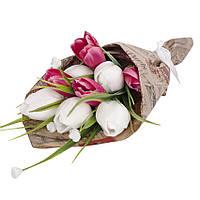 Букет из мыла на подарок Белые тюльпаны