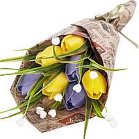 Букет из мыла на подарок Желтые тюльпаны