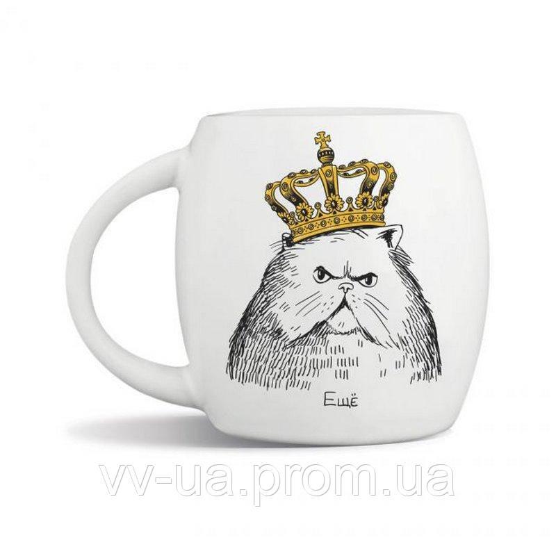 Чашка Orner Кот в короне, 450 мл (orner-0091)