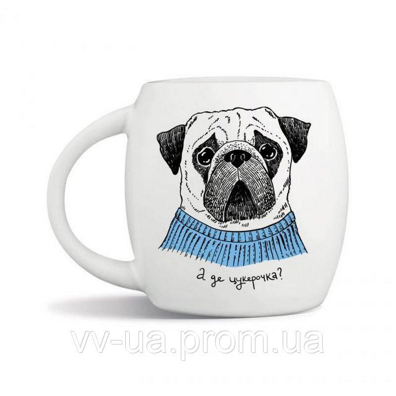 Чашка Orner Мопс, 450 мл (orner-0100)