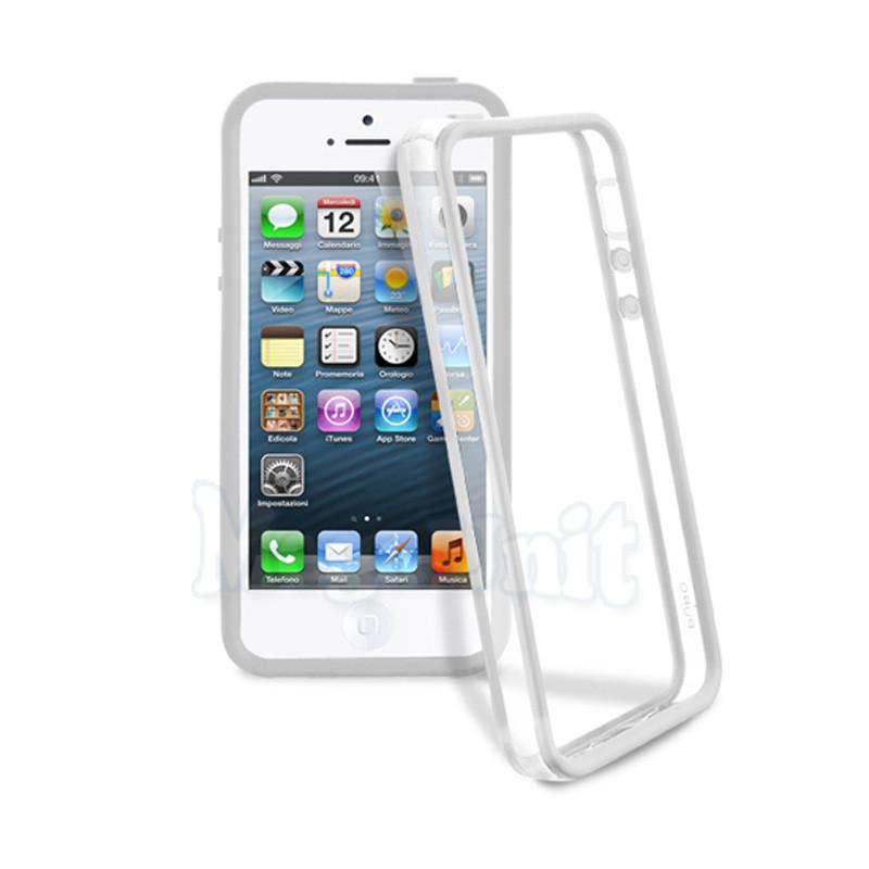 Бампер для Apple iPhone 5/5S (Белый)