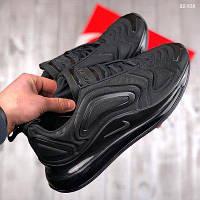 Мужские кроссовки Nike Air Max 720 черные и черно-белые. Топ реплика