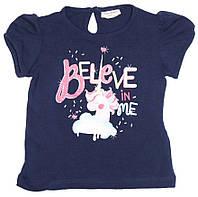 Синяя футболка с единорогом для девочки, OVS kids, 837308