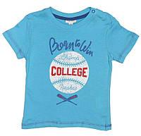 Голубая футболка с принтом для мальчика, OVS kids, 838387