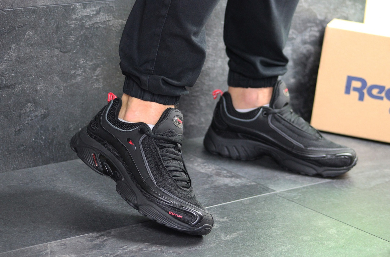 Мужские кроссовки Reebok Daytona DMX (Черно-красные)