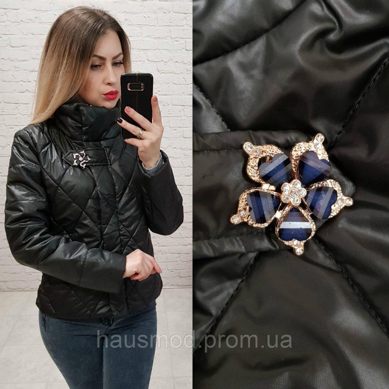 07f92173fdf Женская куртка на синтепоне весна осень фабричный китай синяя ...