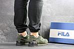 Мужские кроссовки Fila (темно-зеленые), фото 2