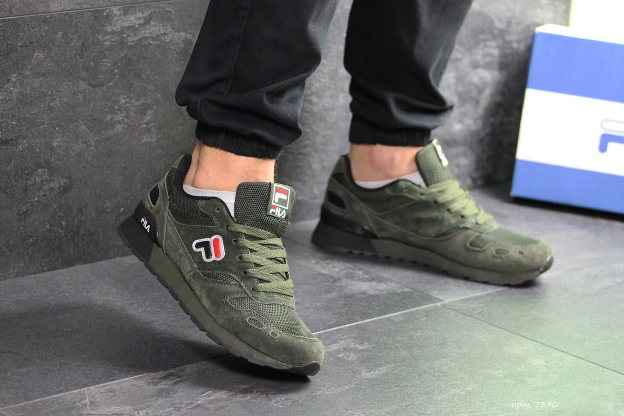 Мужские кроссовки Fila (темно-зеленые)