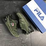 Мужские кроссовки Fila (темно-зеленые), фото 5