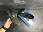 Мужские кроссовки Fila (темно-зеленые), фото 6