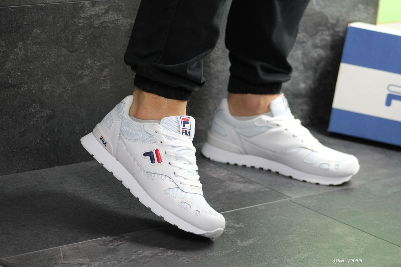 Мужские кроссовки Fila (Белые)