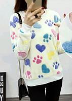 Красивый женский свитер,свитшот , очень мягкий и приятный к телу!!! см.замеры в описании