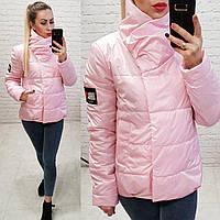 Женская куртка на силиконе весна осень фабричный китай розовая, фото 1