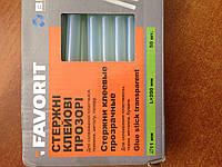 Стержні клейові 11мм, 50 шт. х 200мм, 1кг прозорі Favorit 12-124 | стрижні, стержни клеевые, клей
