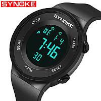 Водонепроницаемые мужские Led цифровые спортивные часы Synoke 9199 черные