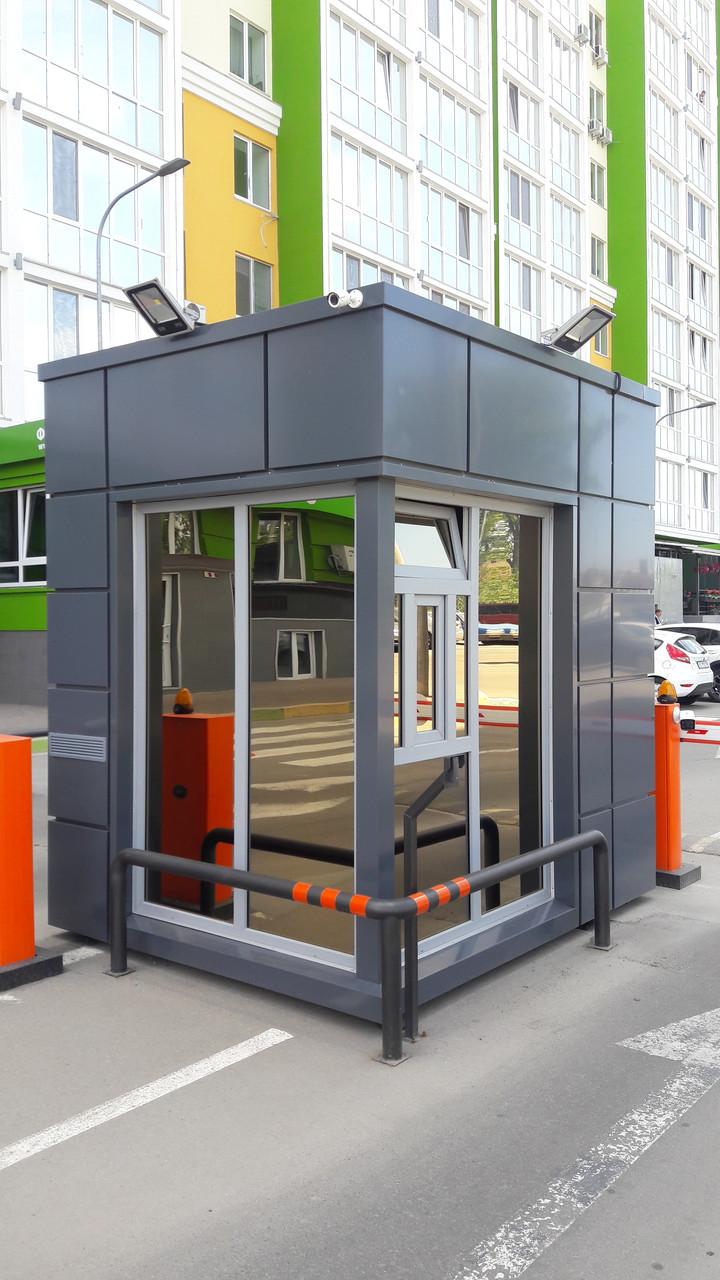 Посты охраны, торговые павильоны с фасадом из алюминиевого композита