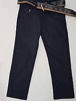 Брюкиподростковые для мальчика, с ремнем, 8-12 лет, темно-синие, фото 1